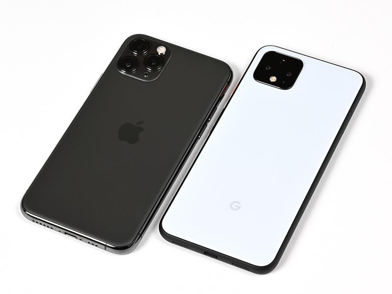 左がiPhone 11 Pro。右がPixel 4。