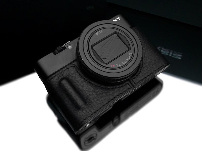 GARIZ SONY RX100 VII(DSC-RX100M7)用 本革カメラケース ブラック