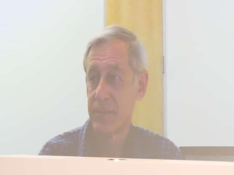 米Google ResearchのMarc Levoy氏。テレビ会議による参加。