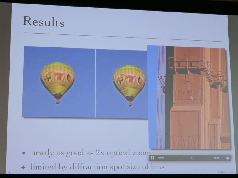 実際の画像。右の気球がPixelでより鮮明な画像。一番右はゴールデンゲートブリッジを離れた場所からズームで撮影したもの。