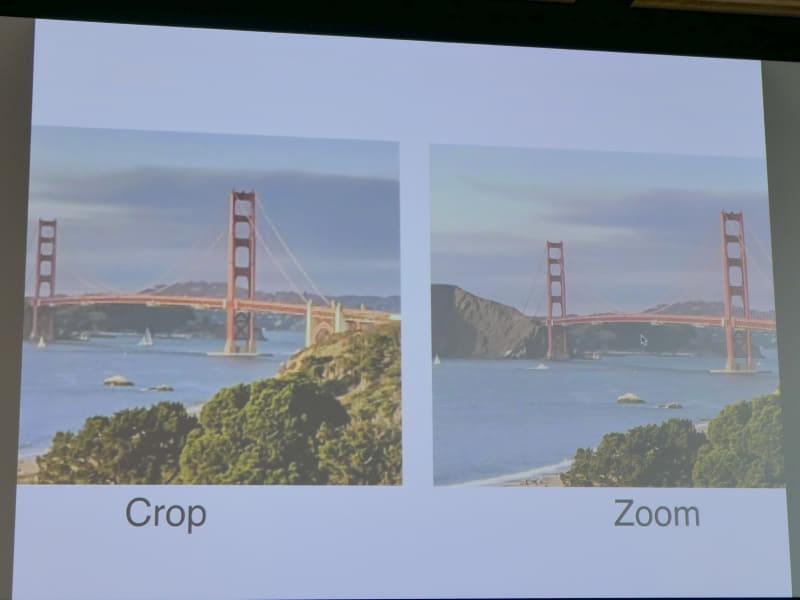 単なるクロップよりも超解像ズームの方が高画質になる。