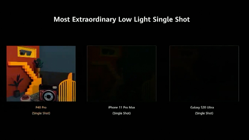 ライバル機より暗所撮影に強いことを示す作例。