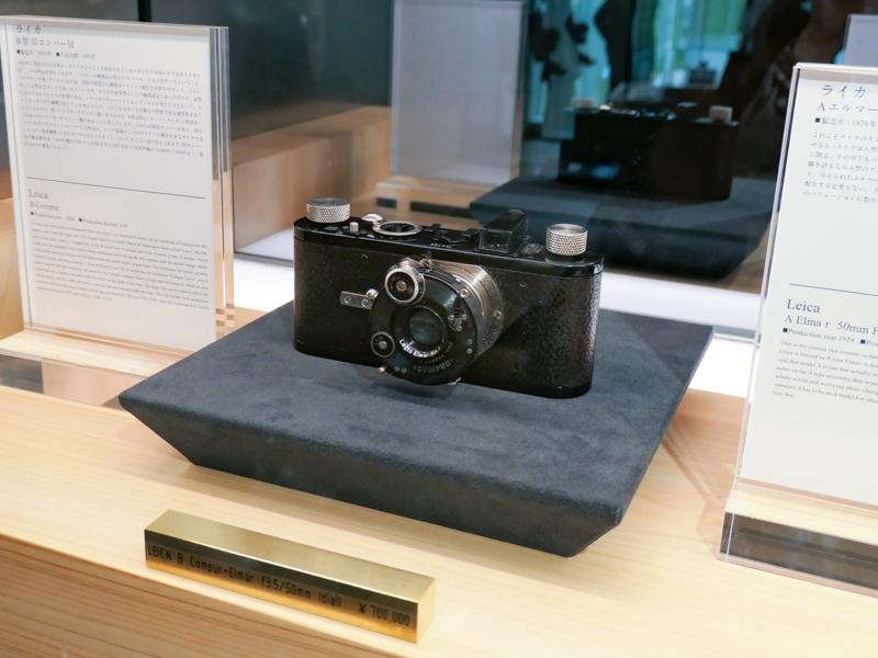 レンズ部にコンパーシャッターを備えたライカB型(前期)。これも普通の中古カメラ店では見かけない。