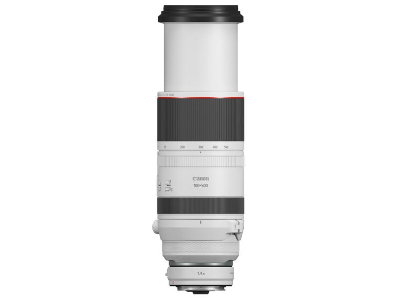 EXTENDER RF1.4×と組み合わせた状態。使用できる焦点距離は300mmからとなる