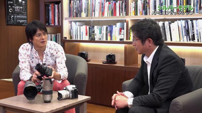 写真家の佐々木啓太氏(左)と株式会社リコー商品企画部の若代滋氏(右)
