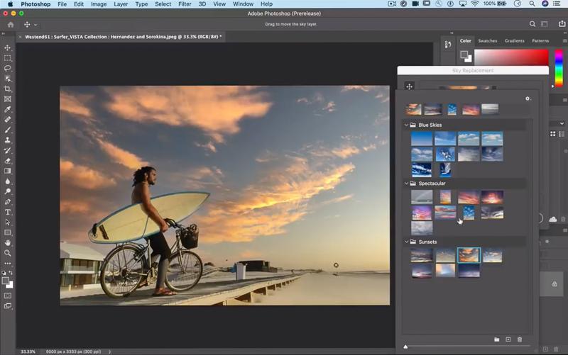 "「<a href=""https://www.youtube.com/watch?v=K_jWJ7Z-tKI"" class=""n"" target=""_blank"">Photoshop Sneak Peek: Sky Replacement</a>」より(以下同)"