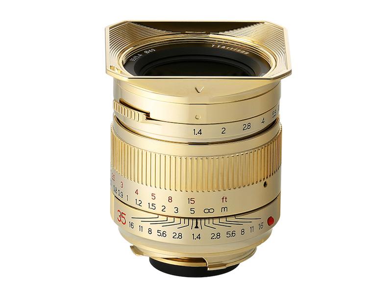 世界200本限定の「TTArtisan 35mm f/1.4 Gold Edition」。希望小売価格は税別12万円。