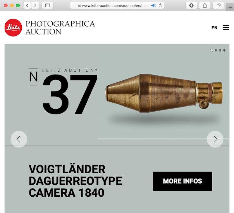 "<a href=""https://www.leitz-auction.com/auction/en/home"" class=""n"" target=""_blank"">Leitz Photographica AuctionのWebサイト</a>より"