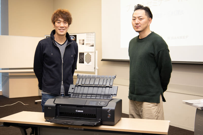 講師を務めた中西敏貴さん(左)と三村漢さん(右)