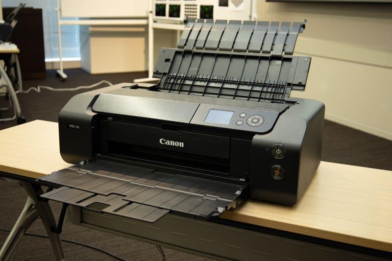 セミナーで使用された「PRO-G1」。A3ノビ対応のプロ・ハイアマ向け顔料プリンターの新製品だ。