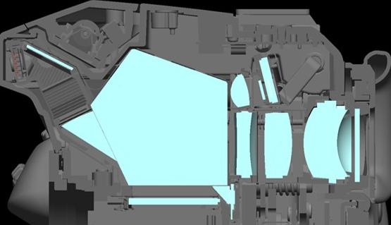 参考:ファインダー部の違い(リコーイメージング提供)。左:K-3 Mark III 右:K-3 II