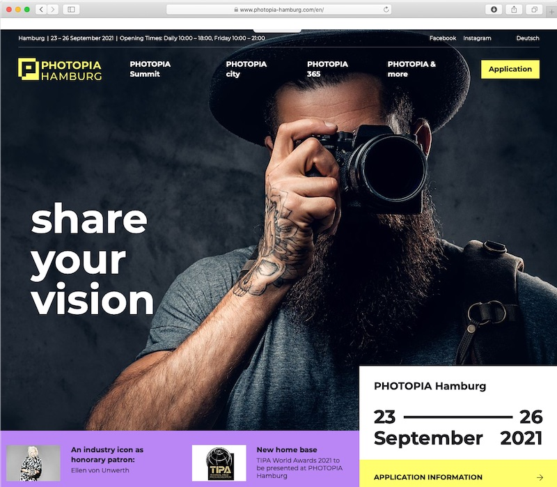 "<a href=""https://www.photopia-hamburg.com/en/"" class=""n"" target=""_blank"">PHOTOPIA HamburgのWebサイト</a>より"