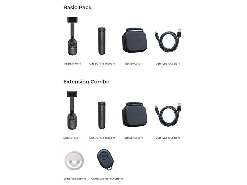 「Basic Pack」(上)、「Extension Combo」(下)
