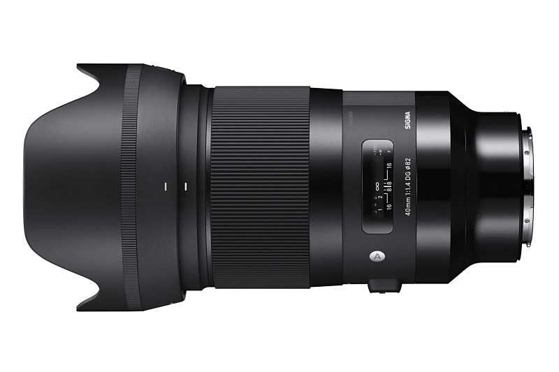 対象製品のひとつ「SIGMA 40mm F1.4 DG HSM Art」