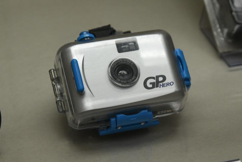 「GoPro」シリーズの初代機も展示