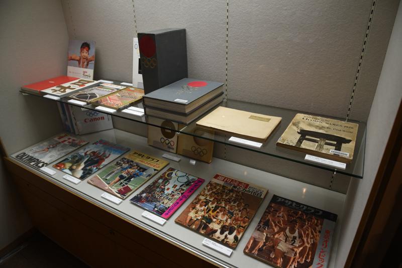 第18回オリンピック競技大会(1964/東京)当時の貴重な資料も展示されている