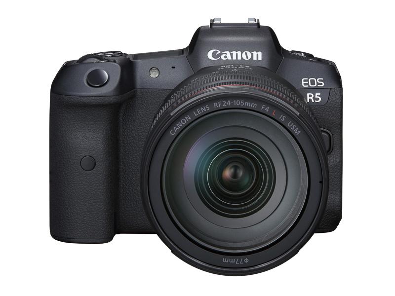 フルサイズミラーレスカメラのひとつ「EOS R5」