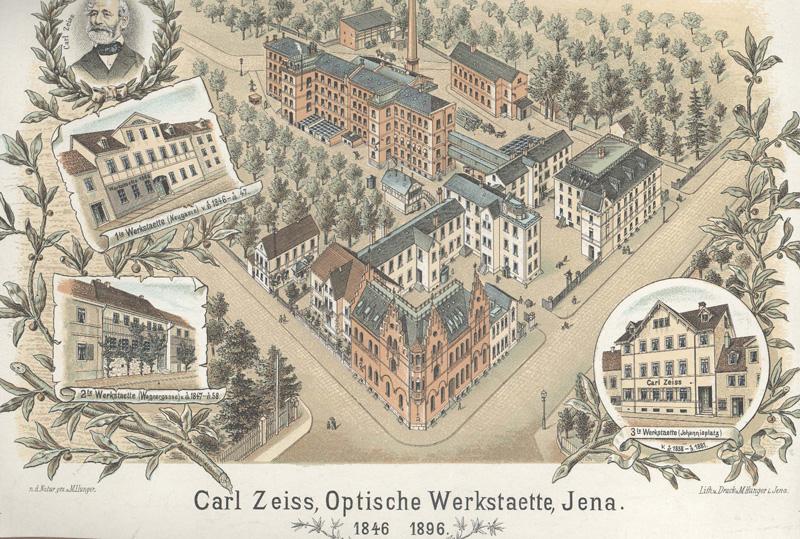 イエナのカールツァイス工場(1896年)