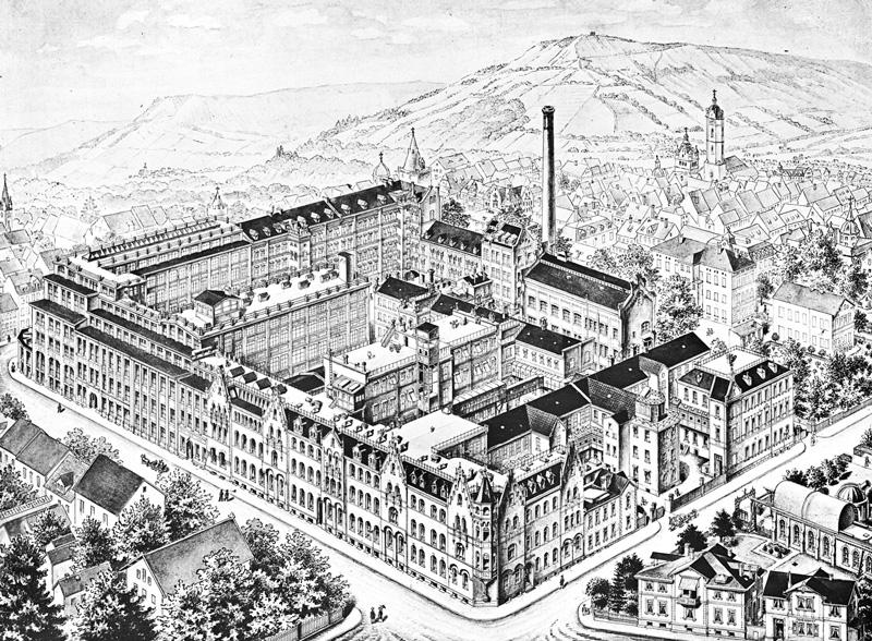 イエナのカールツァイス工場(1908年)