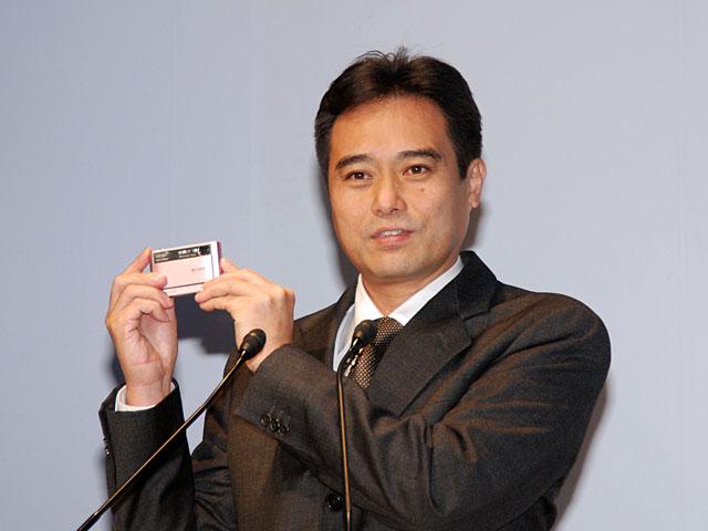<b>新事業本部の本部長に就く今村昌志氏(写真は2007年2月のサイバーショット発表会)</b>