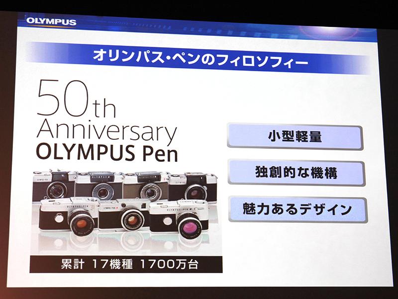 <b>E-P1が受け継いだペンのフィロソフィー。2009年はペン誕生から50年にあたる</b>