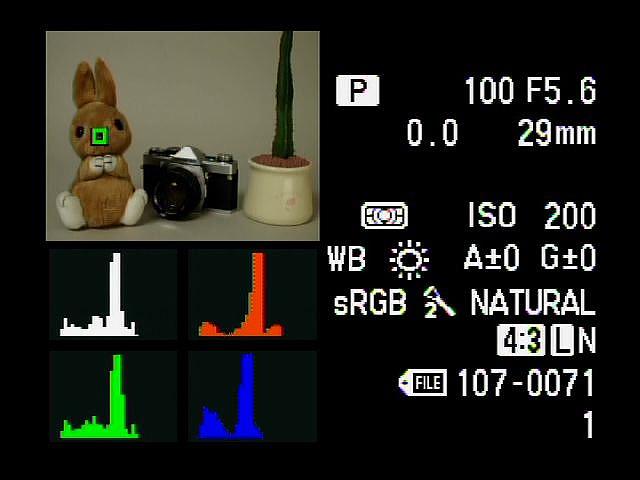 <b>RGB別ヒストグラム表示</b>