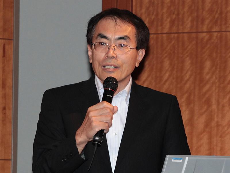 <b>リコーパーソナルマルチメディアカンパニー設計室副室長の福岡宏樹氏</b>