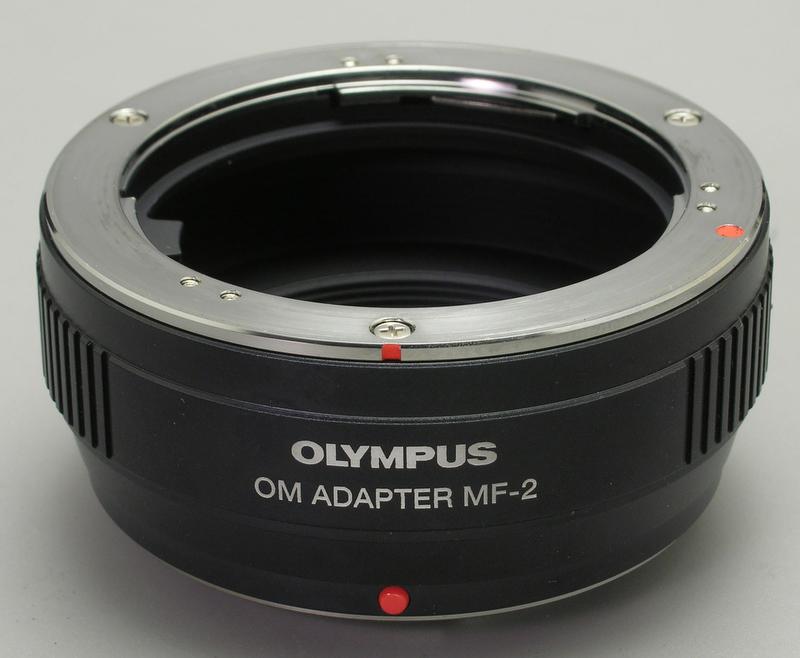 <b>オリンパス純正のOMアダプターMF-2</b>