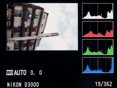 <b>ヒストグラムは輝度だけでなく、RGB各色のも個別に表示できる。こういうのは慣れている人にはうれしい機能だったりする</b>