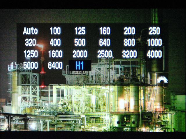 <b>動画時はISO感度も手動で設定可能。最高ISO12800相当(H1)まで増感できる</b>