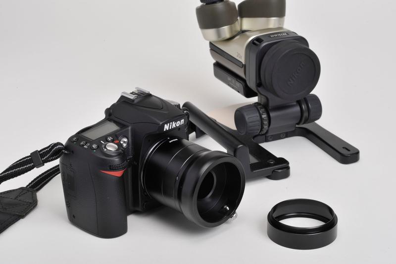 <b>D90にカメラアタッチメント「NSA-L1」を装着</b>