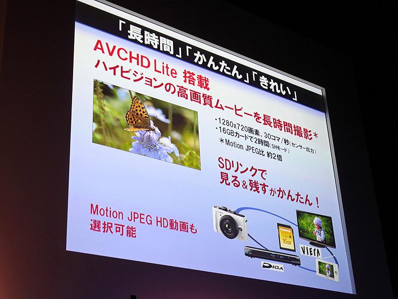 <strong>AVCHD Lite形式でのHD動画撮影が可能</strong>