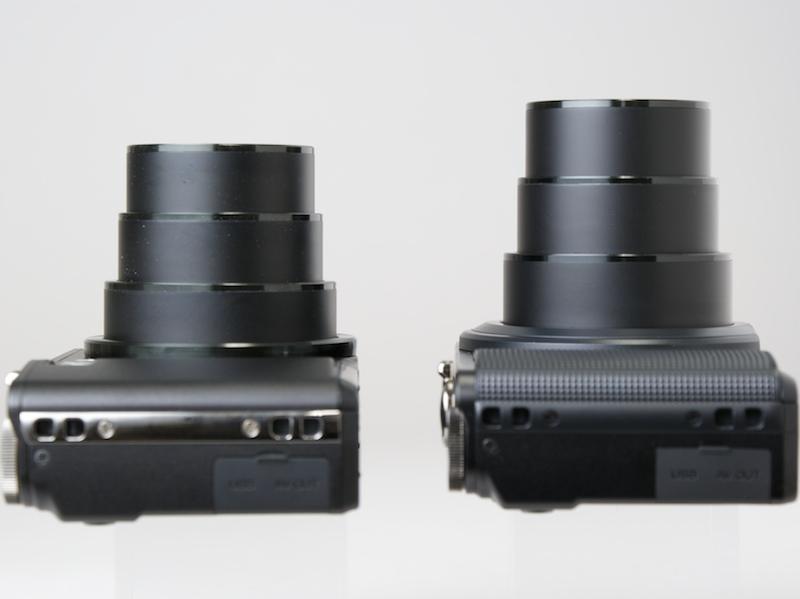<b>CX1(左)とCX2(右)。ともに望遠端の状態</b>