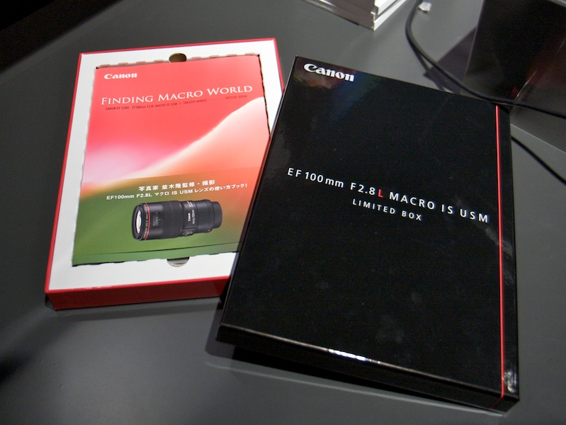 <b>EF 100mm F2.8 L Macro USMを購入するともらえる並木隆氏撮り下ろしプリントがついた「LIMITED BOX」</b>