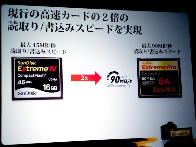 <b>Extreme IVと比べて約2倍の転送速度を実現するという</b>