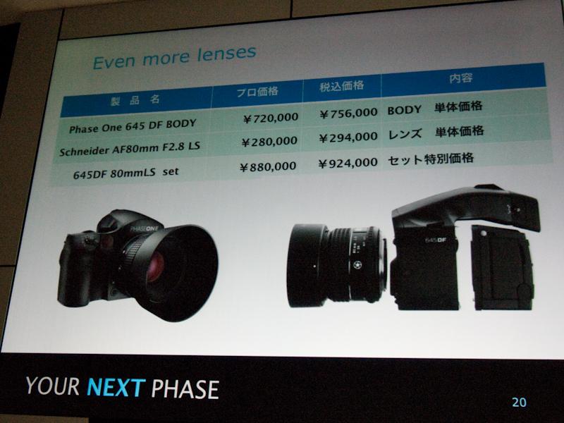 <b>カメラとレンズのセット販売も行なう</b>