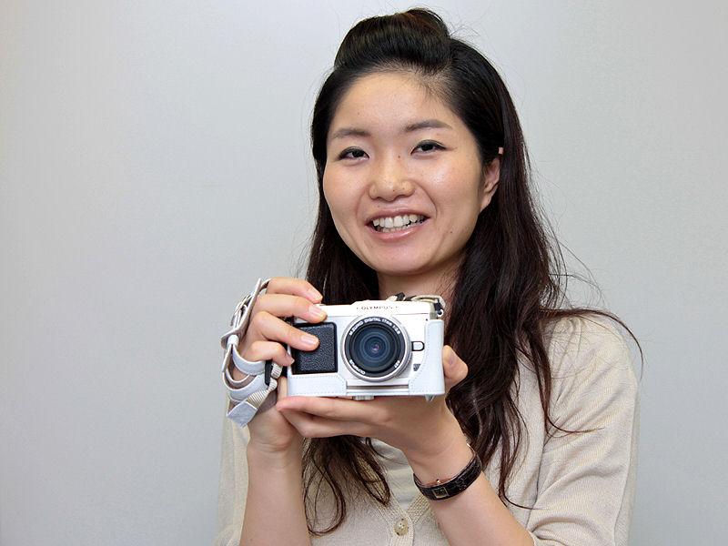 <b>オリンパスイメージング イメージング事業本部SB推進部 市場開拓グループの小松聰子プロダクトリーダー</b>