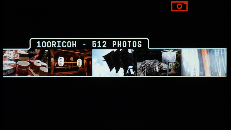 <b>SDメモリーカード内の写真を表示する場合は、写真の入ったフォルダー名と写真の枚数を表示する</b>