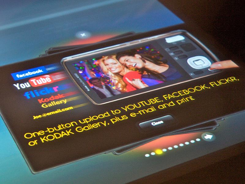 <b>今期のコダック製デジタルカメラにはすべての機種でシェアボタンを備えた。</b>