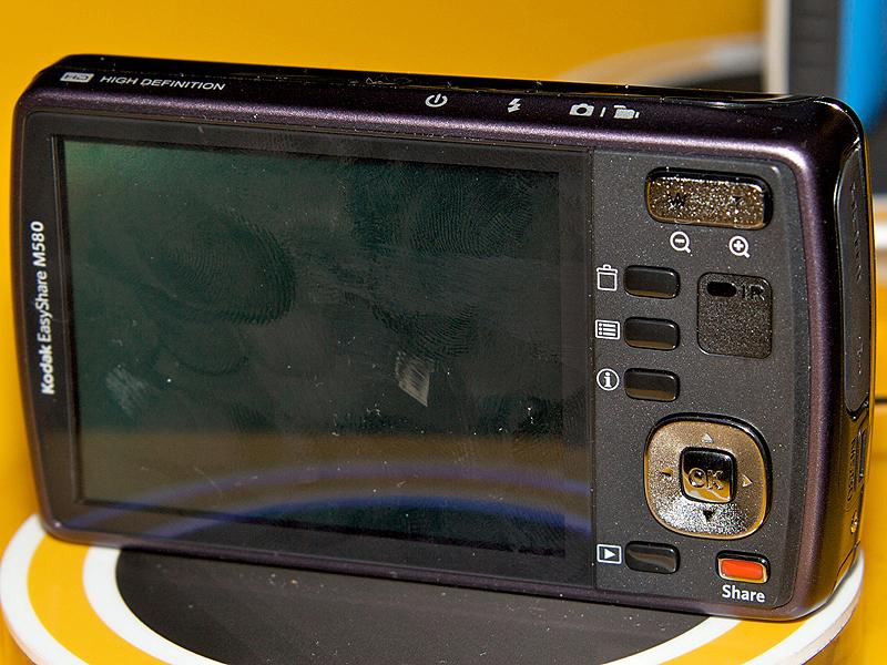 <b>EASYSHARE M580。ほかのMシリーズもデザインはほぼ共通</b>