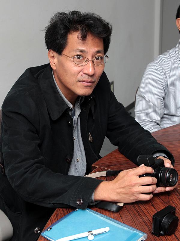 <b>GXRの商品企画を担当したリコーパーソナルマルチメディアカンパニー企画室 企画グループ 技術主担の福井良氏</b>