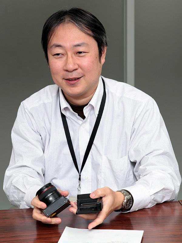 <b>GXRのソフトウェアを担当したリコーパーソナルマルチメディアカンパニーICS設計室 設計3グループ シニアスペシャリストの牧隆史氏</b>