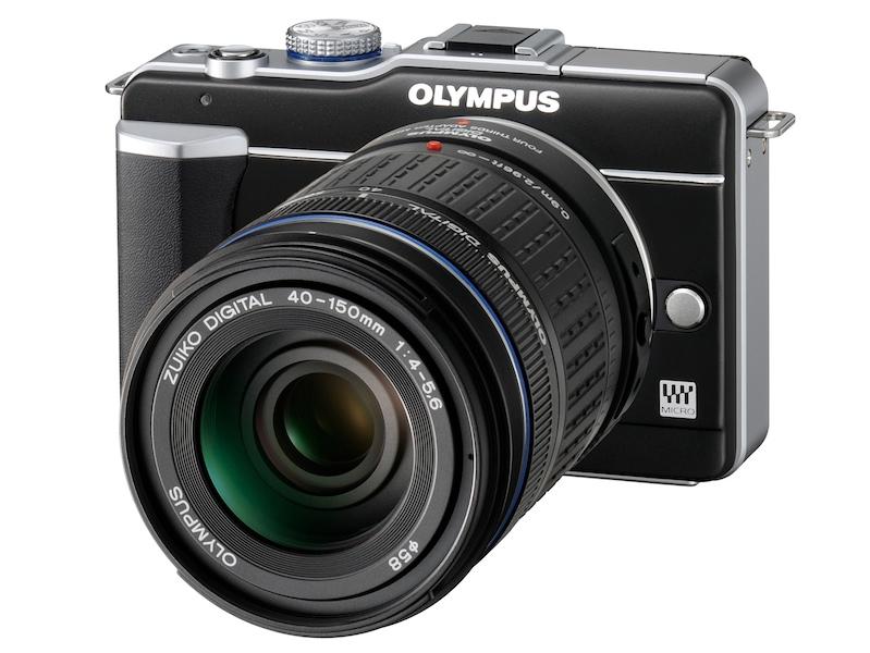 <b>MMF-2を介してZUIKO DIGITAL ED 40-150mm F4-5.6を装着した状態</b>