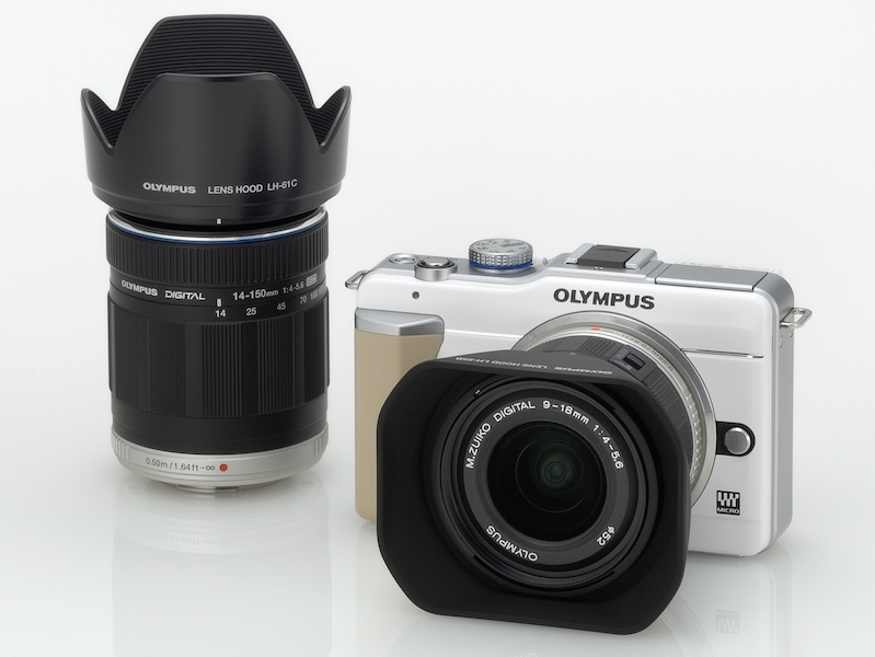 <b>同時発表のM.ZUIKO DIGITAL ED 9-18mm F4-5.6とM.ZUIKO DIGITAL ED 14-150mm F4-5.6との組み合わせ例</b>