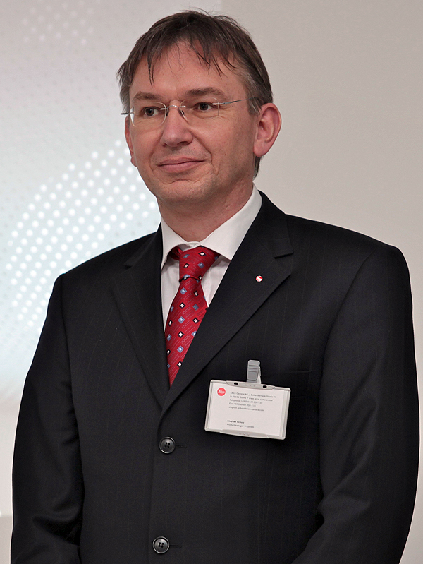 <b>ライカカメラAGのSシステムプロジェクト統括責任者であるStephan Schulz氏</b>