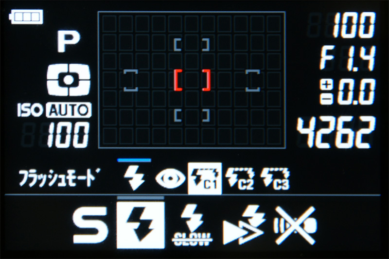 <b>FUNCボタンで呼び出せるファンクション画面</b>
