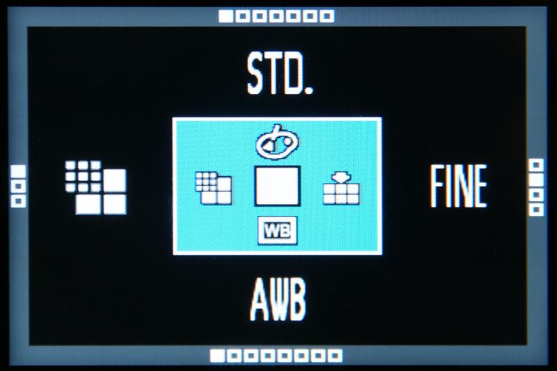 <b>QSボタンでクイックセットメニューを表示</b>