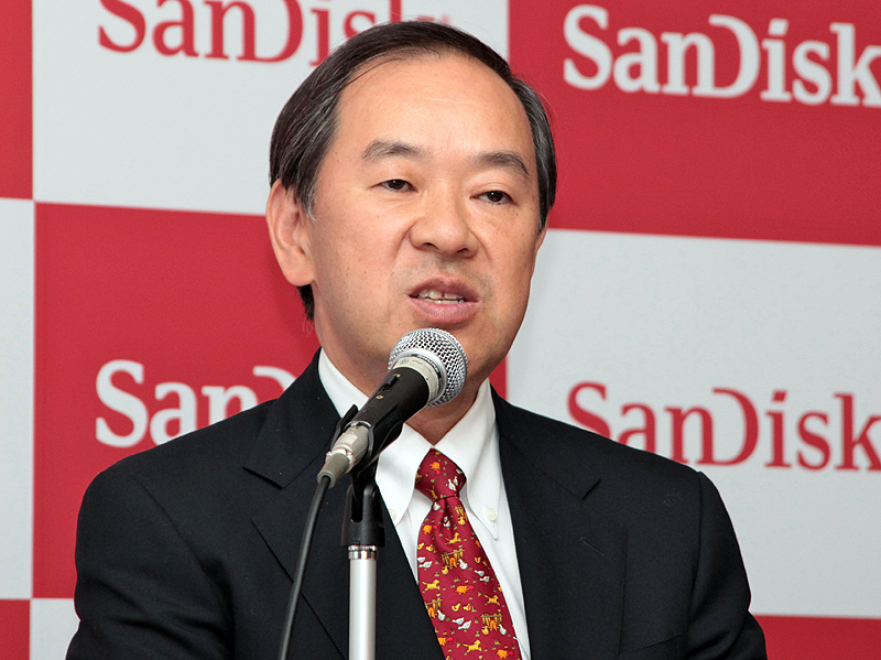 <b>サンディスク日本法人社長の小池淳義氏</b>