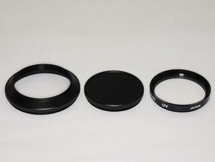 <b>ドームフード46mm(黒)キャップ・37mm(P0.75)フィルター付き</b>