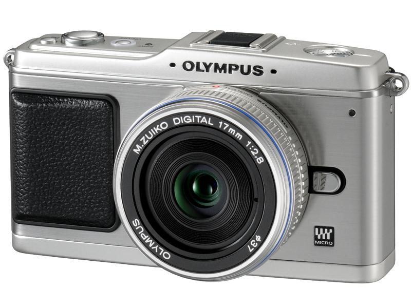 <b>E-P1。ツインレンズキットに付属するM.ZUIKO DIGITAL 17mm F2.8を装着</b>